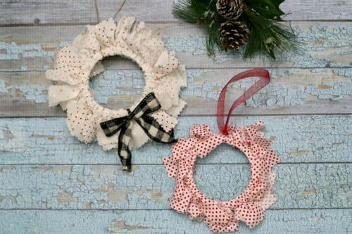 Diy Fabric Mason Jar Lid Ornaments