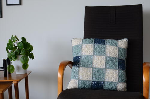 Clover Leaf Granny Square Pillow