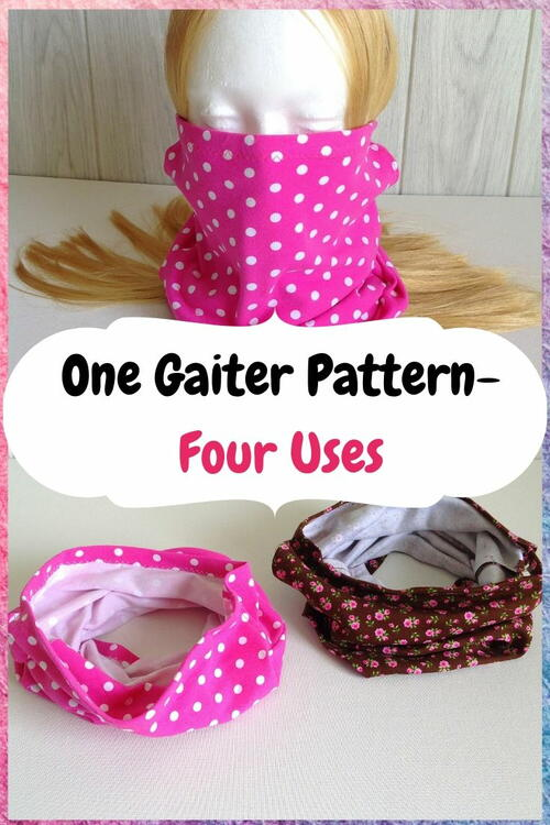 Easy Gaiter Face Mask Pattern ( Sewing Project)