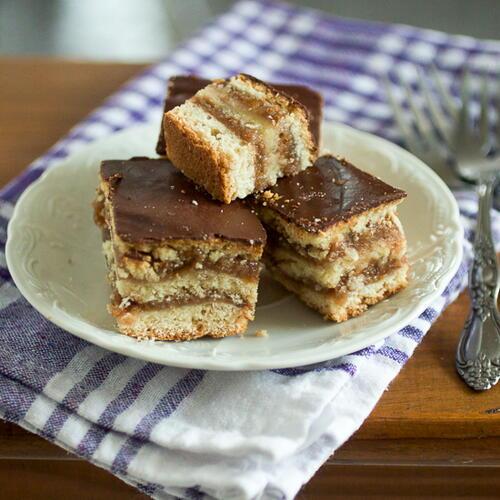 Chocolate And Preserve Squares