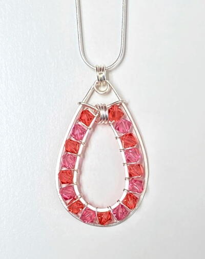 Crystal Double Framed Pendant