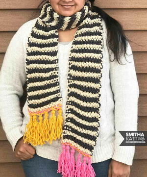Striped Knittined Scarf