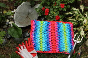 Recycled Rainbow Garden Kneeler