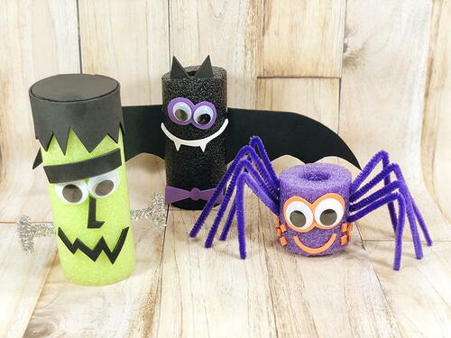 Halloween Pool Noodle Crafts