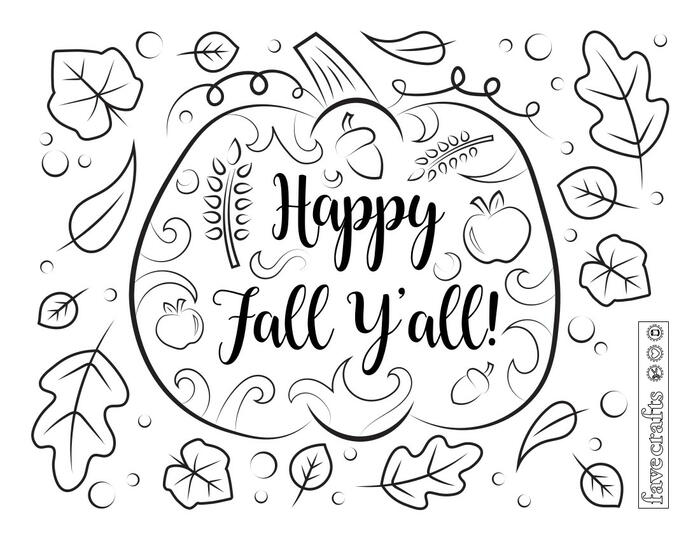 - Happy Fall Ya'll Coloring Page FaveCrafts.com