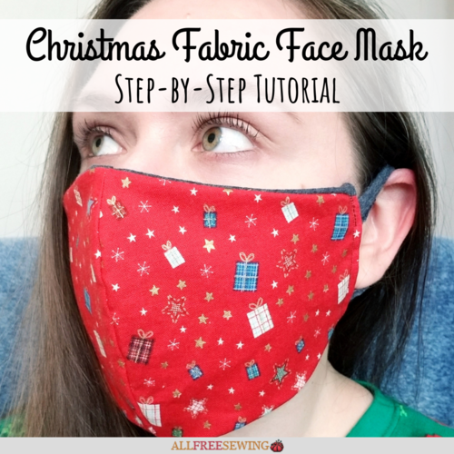 How to Make a Christmas Fabric Face Mask