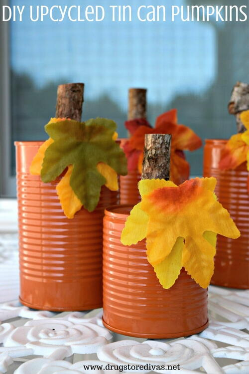 Diy Upcycled Tin Can Pumpkins