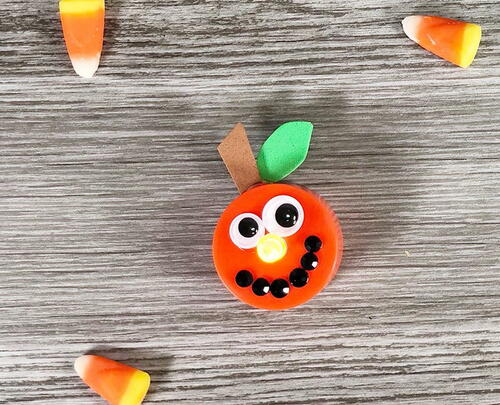 Cute Jack-o-lantern Pumpkin Tea Light Craft