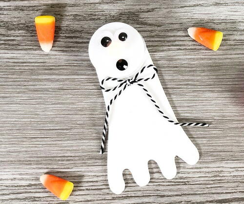 Easy Ghost Tea Light Halloween Craft