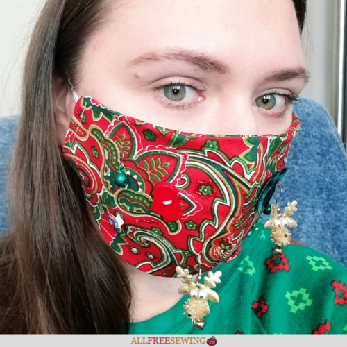 DIY Ugly Christmas Face Masks [Printable Templates]