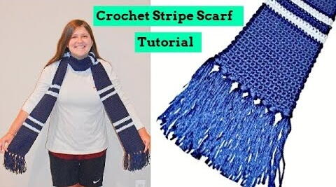 Stripe Scarf With Tassels