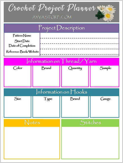 Crochet Project Planner – Why Do You Need It!