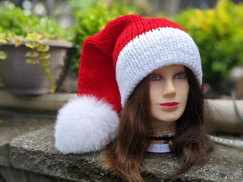Double Brim Santa Hat