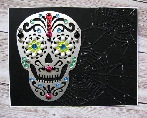 Day Of The Dead Sugar Skull Card