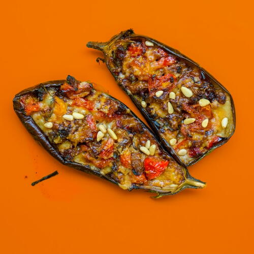 Delicious Roasted Eggplant With Couscous