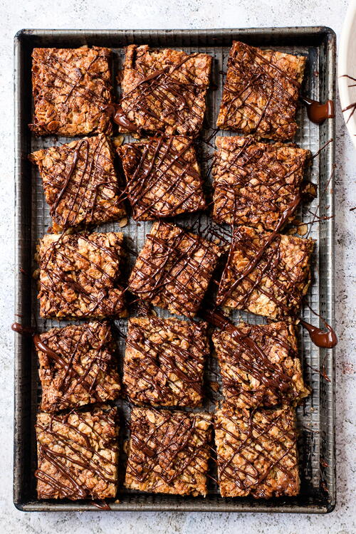 Soft & Chewy Chocolate Flapjacks