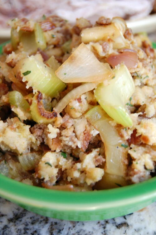 Apple Sausage Stuffing