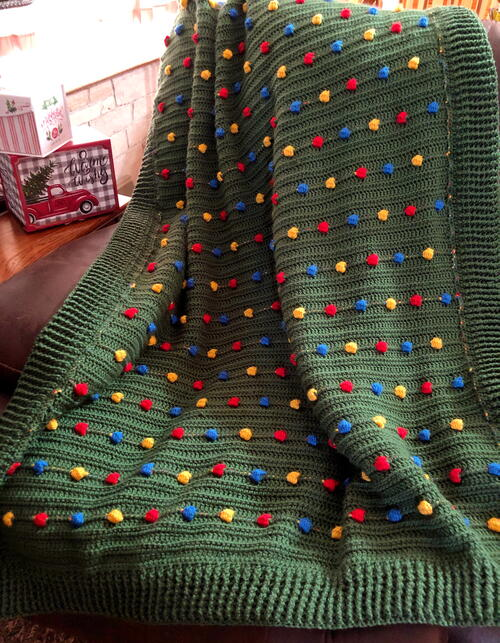 Festive Light Crochet Blanket