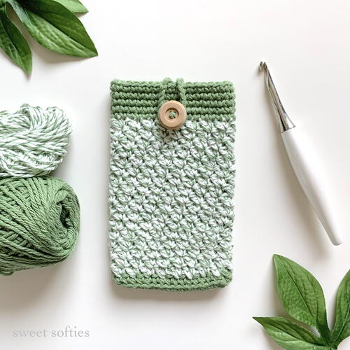 Sage Phone Cozy Pouch Case