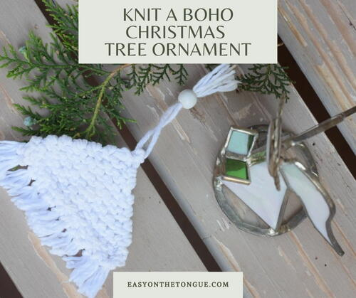 Knit A Boho Christmas Tree Ornament