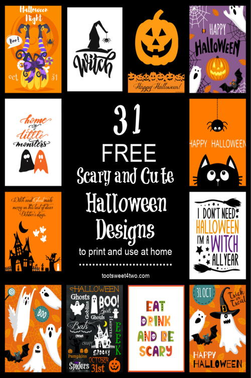 31 Scary And Cute Free Halloween Printables You Will Love!