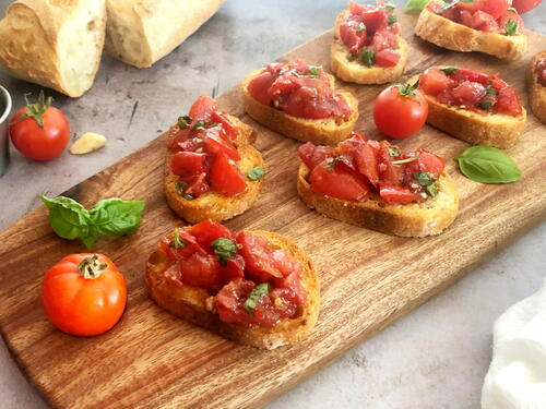Air Fryer Bruschetta