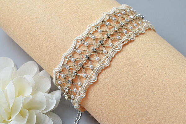 Beebeecraft Tutorial On How To Make Lace Bracelet With Hemp Cord