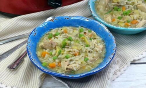 Slow Cooker Chicken Artichoke Soup With Rice