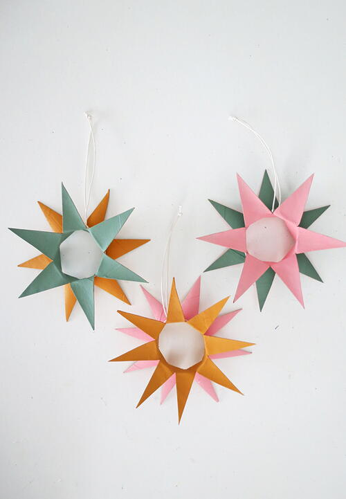 Christmas Ornaments Made With Toilet Paper Rolls