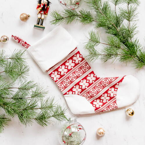 Free Christmas Stocking Sewing Pattern With Toe Patch