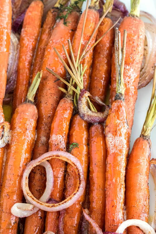 Roasted Browned Butter Carrots