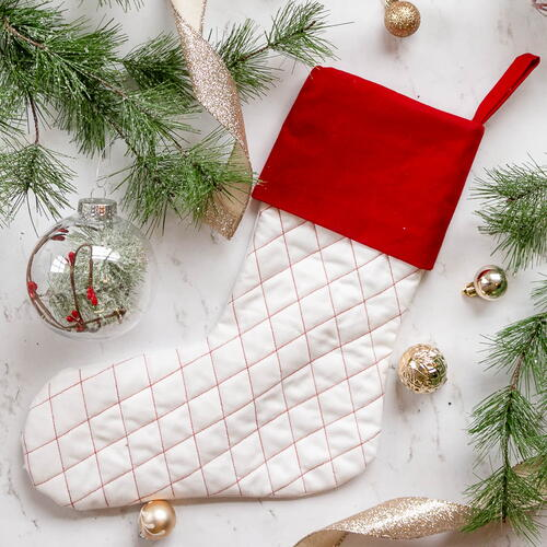 Quilted Christmas Stocking Sewing Pattern