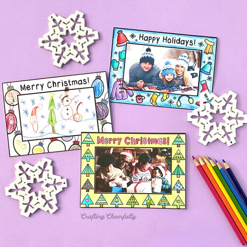 Holiday Coloring Cards - Free Printables