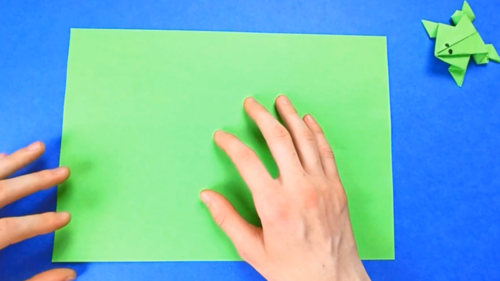 How To Make A Jumping Paper Frog