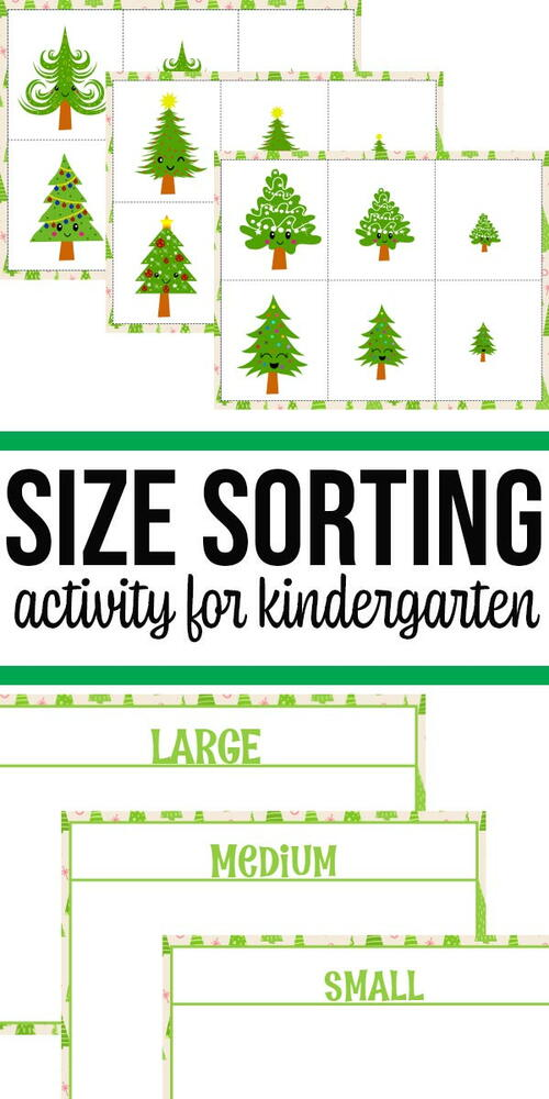 Christmas Tree Size Sorting Printable Activity
