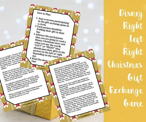 Disney Right Left Christmas Game Printable