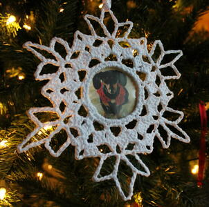 Photo Snowflake Ornament