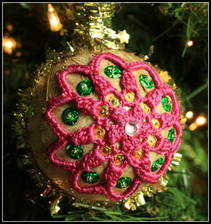Mandala Christmas Ornament