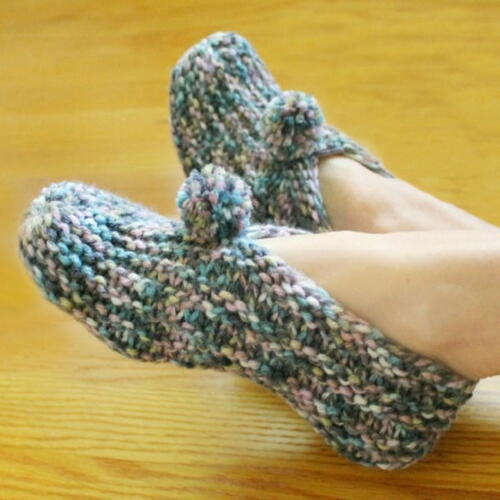 Simple Short-row Slippers
