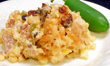 Creamed Corn and Ham Casserole