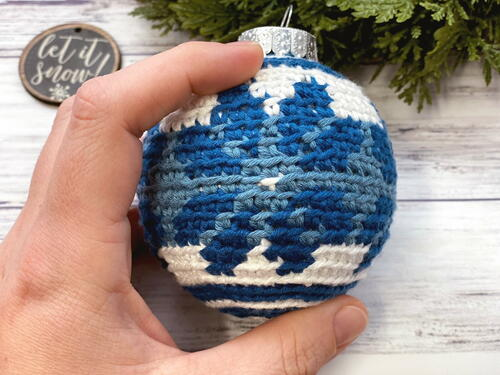 Fair Isle Crochet Ornament