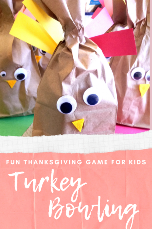 Turkey Bowling Craft And Game For Kids