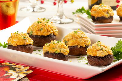 Secret Ingredient Stuffed Mushrooms