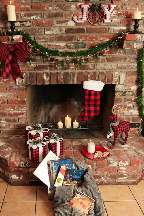 Bright Christmas Fireplace