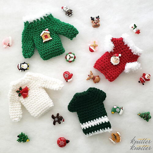 Christmas Sweater Gift Card Holder Ornament