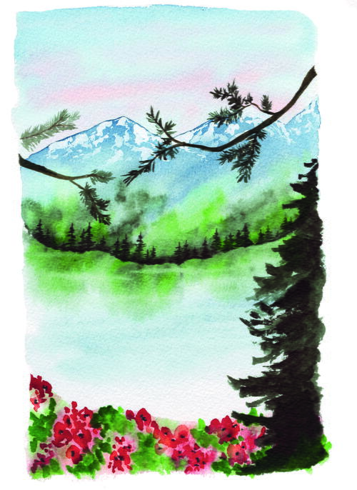 A Peaceful Wild Watercolor