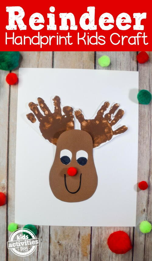 Cutest Christmas Reindeer Handprint Craft With Rudolphs Red Nose
