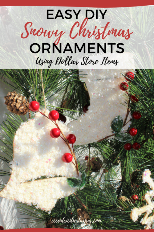 Faux Snow Christmas Ornaments