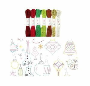 Holiday Embroidery Patterns and Floss Giveaway