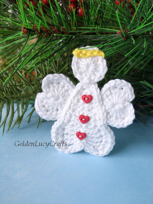 Crochet Heart Angel